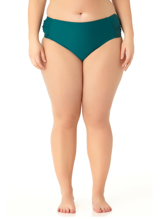 Catalina Plus - Women's Plus Size Teal Tab Side Swim Bottom
