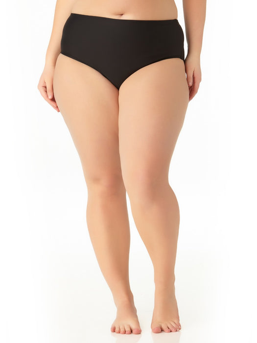 Catalina Plus - Women's Plus Size Black High Waist Swim Bottom