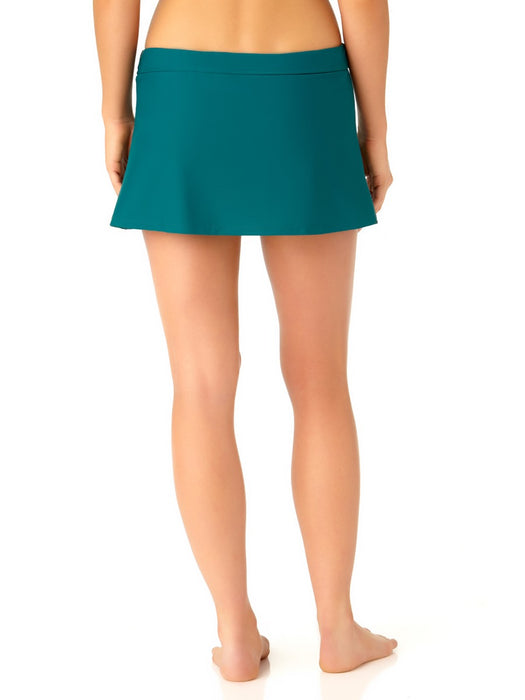 Catalina - Women's Teal Skirted Swim Bottom