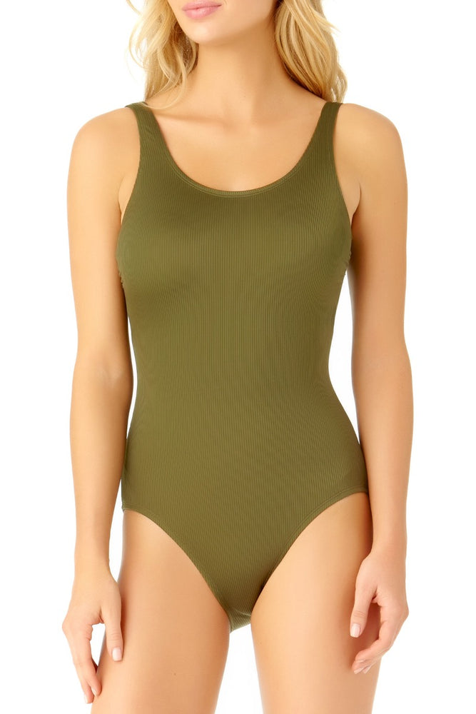 Catalina - Women's Moss Ribbed One Piece Swimsuit