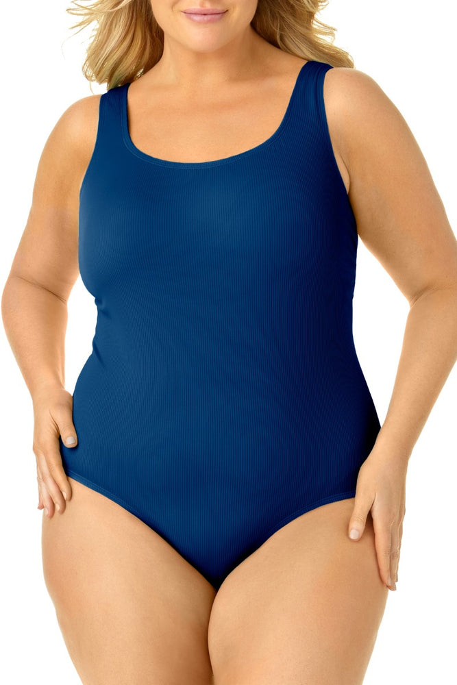 Catalina Plus - Size Ribbed Maillot One Piece