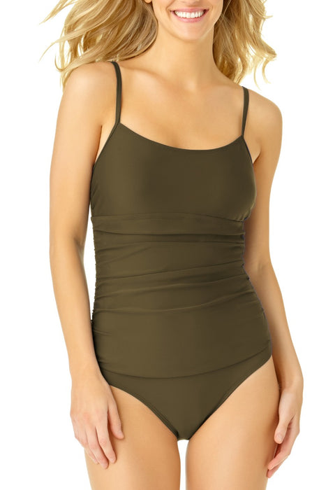 Catalina - Women's Shirred Lingerie Maillot One Piece