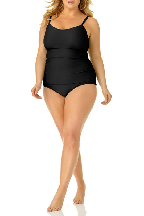 Catalina Plus - Size Shirred Lingerie One Piece