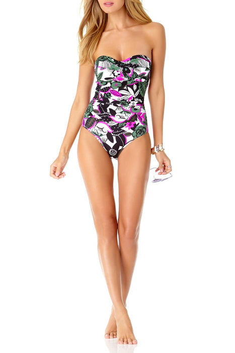 Anne Cole - Bolo Babe Shirred Bandeau One Piece