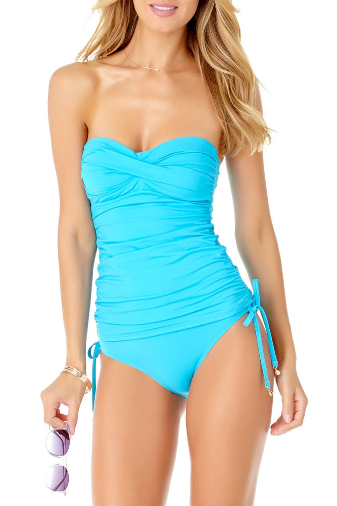 Anne Cole - Live in Color Twist Front Bandeau Tankini Top