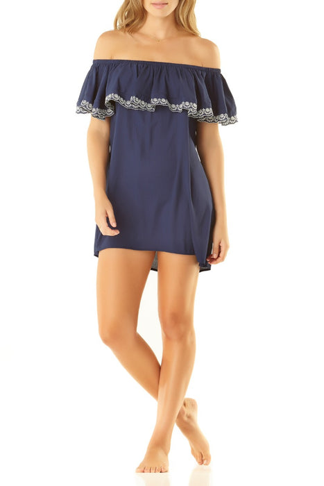 Studio Anne Cole - OTS Eyelet Coverup Dress