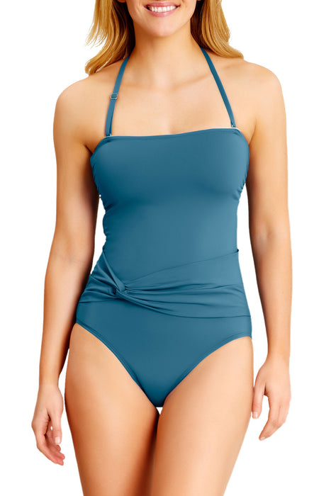 Catalina - Bandeau One Piece With Twist Belt