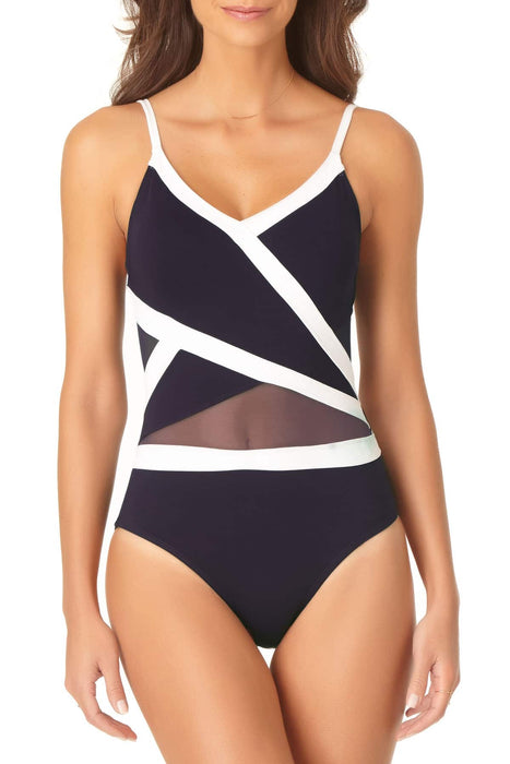 Anne Cole - Crossover Mesh One Piece