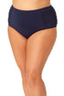 Anne Cole Plus - Shirred High Waisted Tummy Control Swim Bottom