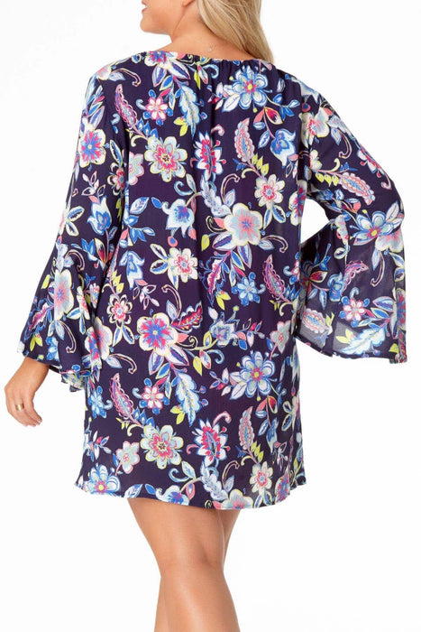 Anne Cole Plus - Bell Sleeve Tunic Cover Up