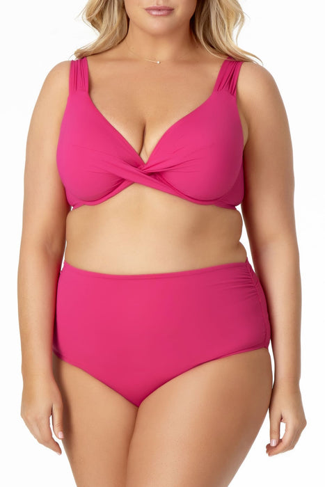 Anne Cole Plus - Twist Front Underwire Bikini Swim Top