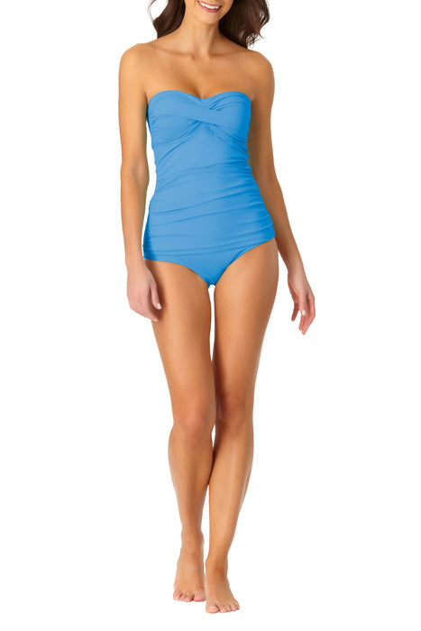 Anne Cole -  Twist Front Bandeaukini Swim Top