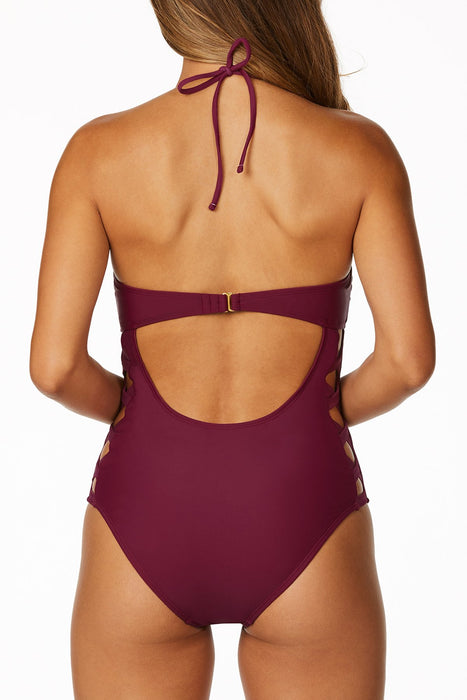 Bebe - Solid Criss Cross One Piece