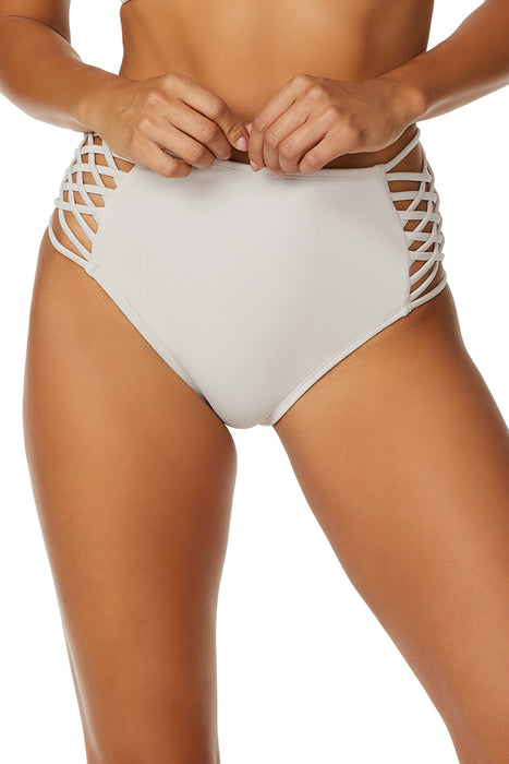 Bebe - Solid High Waisted Criss Cross Bottom