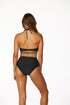 Bebe - Solid Triangle Cut Out Bandeau Top