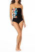 Anne Cole - Blouson With Keyhole One Piece Swimsuit