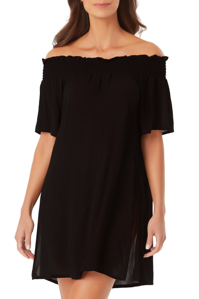 Anne Cole - Smocked Off The Shoulder Cover Up
