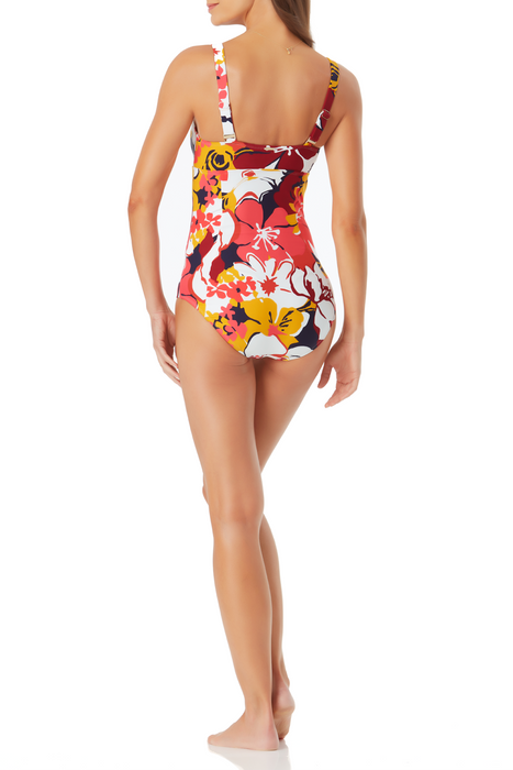 Anne Cole - Wide Strap Bandeau One Piece Swimsuit