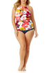 Anne Cole Plus - High Neck Beaded Tankini Top