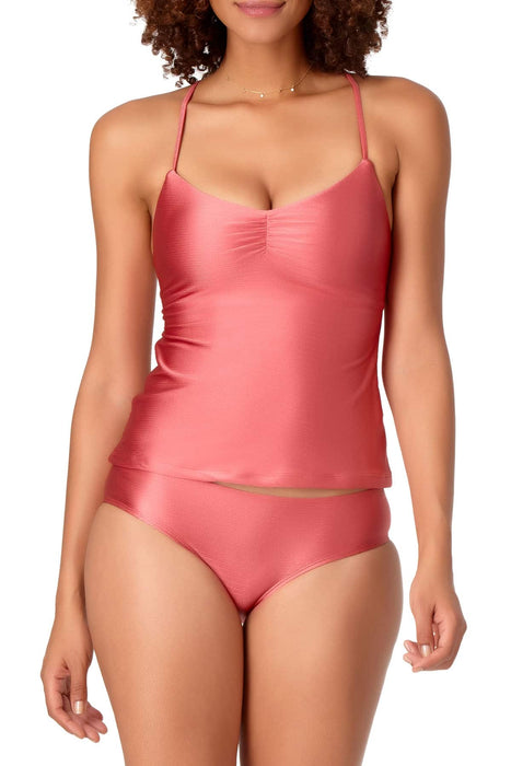 STUDIO Anne Cole - Shirred Tankini Top