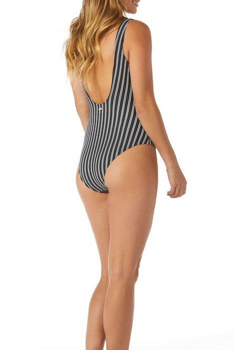 Raisins - Del Mar Stripe Coconut Groove One Piece