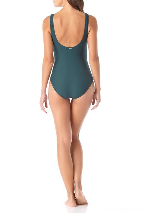 Anne Cole - Twist Front One Piece Swimsuit