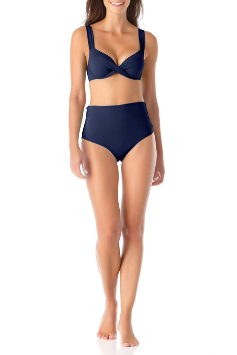 Anne Cole - Underwire Twist Front Bikini Swim Top