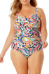 Anne Cole Plus - Twist Front Shirred One Piece Swimsuit