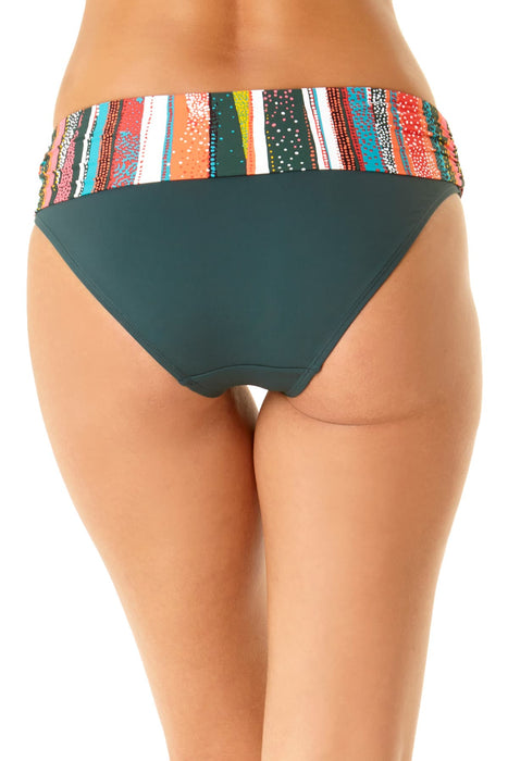 Anne Cole - Printed Foldover Bottom
