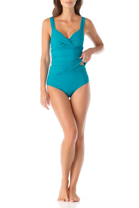 Anne Cole - Twist Front Underwire Tankini Swim Top