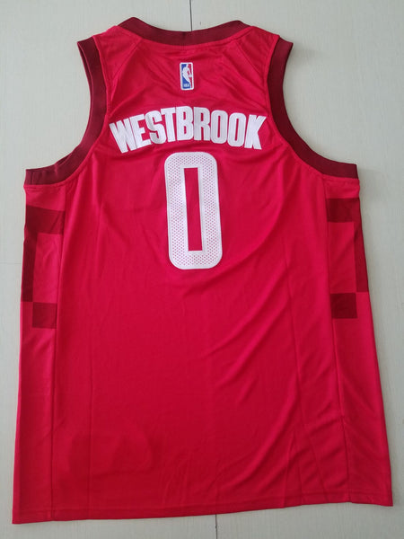 Men 0 Russell Westbrook Jersey Red Houston Rockets Jersey Swingman - fastssd - NBA Jersey - nRevo