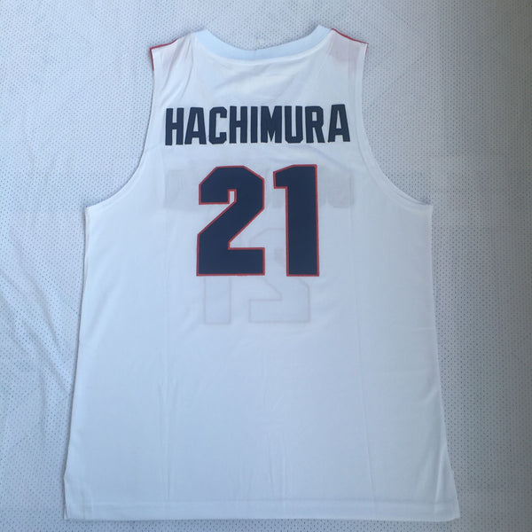 Men 21 Rui Hanchimura Jersey White Gonzaga University Jersey Swingman Fnatics