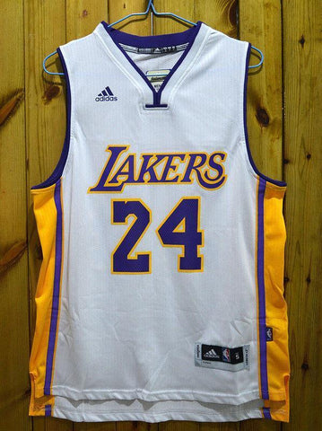 Men 24 Kobe Bryant Jersey White Los Angeles Lakers Swingman Jersey - fastssd - NBA Jersey - nRevo