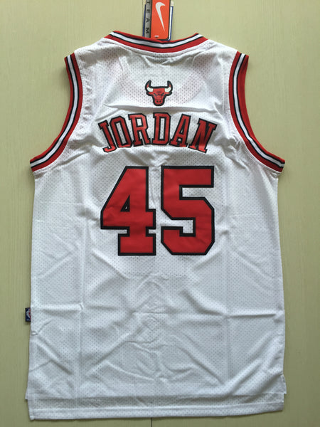 Men 45 Michael Jordan Jersey White Chicago Bulls Jersey Swingman Fanatics - fastssd - NBA Jersey - nRevo