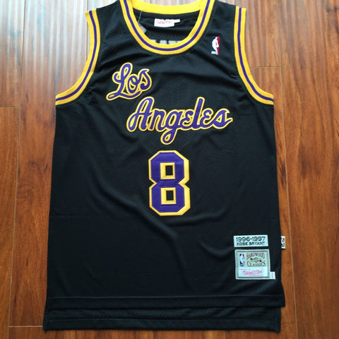 Men 8 Kobe Bryant Jersey Black Christmas Los Angeles Lakers Swingman Jersey - fastssd - NBA Jersey - nRevo