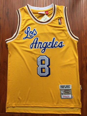 Men 8 Kobe Bryant Jersey Yellow Christmas Los Angeles Lakers Swingman Jersey - fastssd - NBA Jersey - nRevo