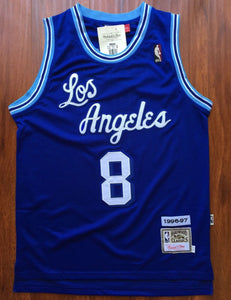 Men 8 Kobe Bryant Jersey Blue Christmas Los Angeles Lakers Swingman Jersey - fastssd - NBA Jersey - nRevo