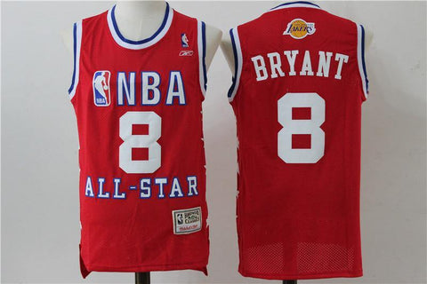 All Star Men 8 Kobe Bryant Jersey Red Los Angeles Lakers Swingman Jersey - nRevo