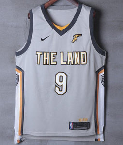 Men 9 Dwyane Wade Jersey Gray the Land Cleveland Cavaliers City Player - fastssd - NBA Jersey - nRevo