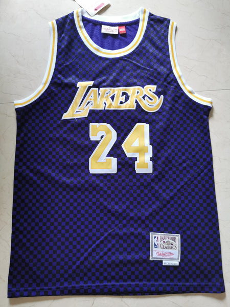 Men 24 Kobe Bryant Jersey Blue Los Angeles Lakers Jersey Hardwood Classics - fastssd - NBA Jersey - nRevo