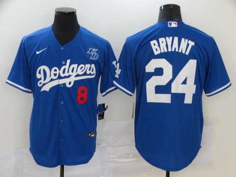 Men 24 Kobe Bryant Jersey Blue Los Angeles Dodgers Jersey MLB Fanatics - nRevo