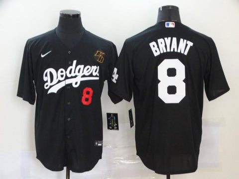 Men 8 Kobe Bryant Jersey Black Los Angeles Dodgers Jersey MLB Fanatics - nRevo