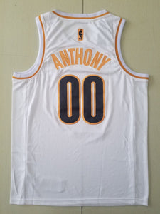 Men 00 Carmelo Anthony Jersey Portland Trail Blazers White Golden Edition Jersey