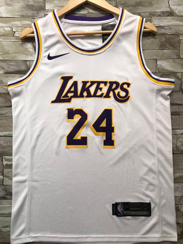 New Men 24 Kobe Bryant Jersey White Los Angeles Lakers Swingman Jersey - fastssd - NBA Jersey - nRevo