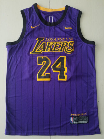 New Men 24 Kobe Bryant Jersey Purple Los Angeles Lakers Swingman City Edition - fastssd - NBA Jersey - nRevo