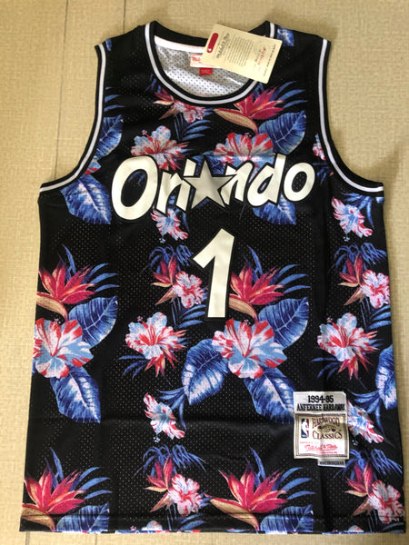 Men 01 Penny Hardaway Jersey Ness Floral Fashion Orlando Magic Jersey Hardwood Classics - fastssd - NBA Jersey - nRevo