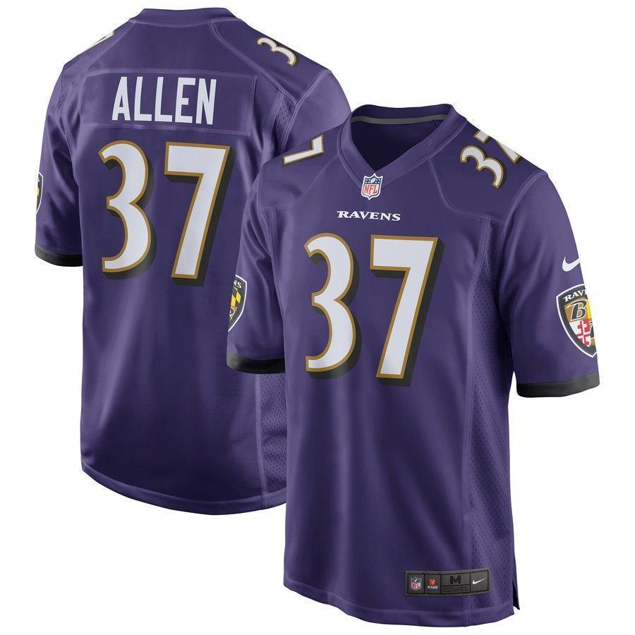 Javorius Allen #37 Baltimore Ravens Purple NFL Draft Game Jersey