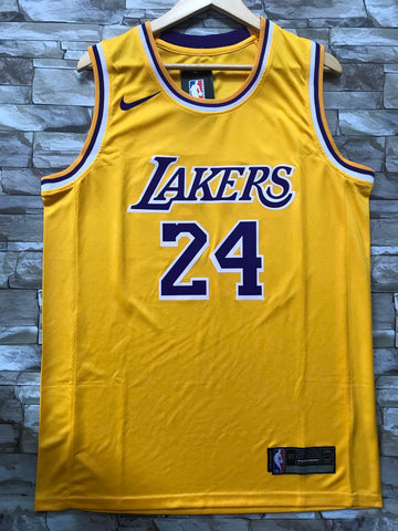 New Men 24 Kobe Bryant Jersey Yellow Los Angeles Lakers Swingman Jersey - fastssd - NBA Jersey - nRevo