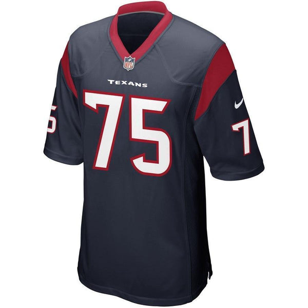 Vince Wilfork #75 Houston Texans Navy Blue Game Jersey