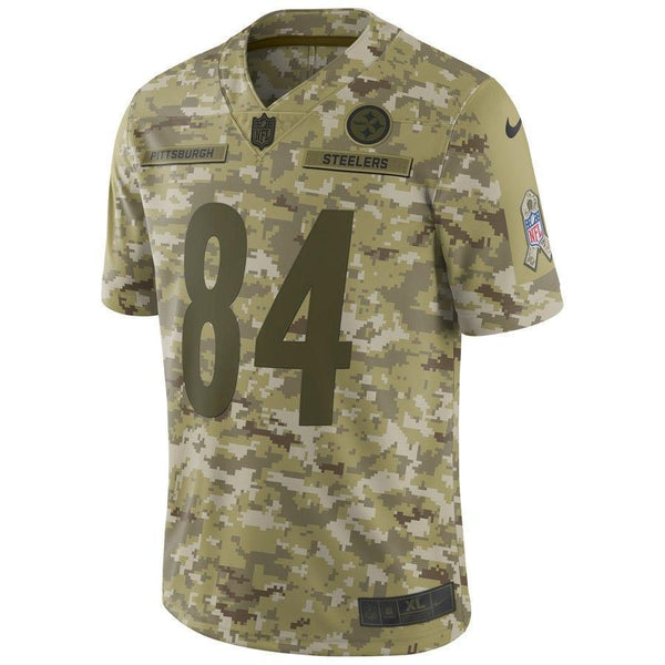 Antonio Brown #84 Pittsburgh Steelers Mens NFL Jersey Camo Salute to Service Limited